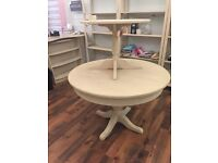 TWO ROUND TABLES - ANNIE SLOAN PAINTED