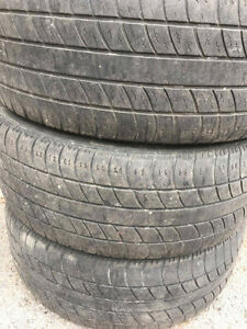 Set of 4 winter tires and rims 155/ 55 R15