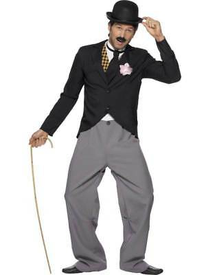 MENS CHARLIE CHAPLIN 1920s SILENT MOVIE STAR FILM TV COSTUME FANCY DRESS OUTFIT