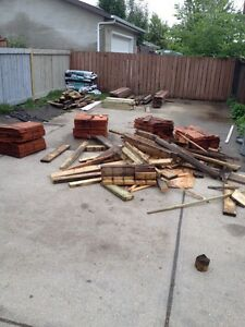 Misc wood/30feet of used fence board