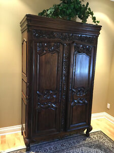 Hand Carved Armoire/Wardrobe