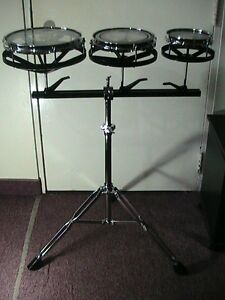 REMO Rototoms 6,8,10,Pristine ConditionW/Adjustable*Heavy*Stand
