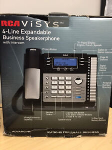 4 Line Business Speaker phone with intercom RCA X 6 units