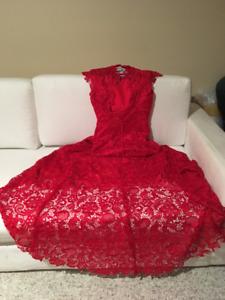red elegant evening/wedding gown