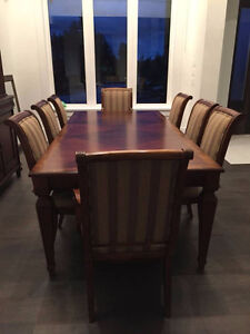 Ethan Allen Dining Set and Cabinet