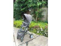 Stokke Xolory3 green stroller pushchair.