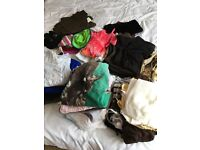 Mens/ladies/kids large job lot of clothes various sizes some new with tags