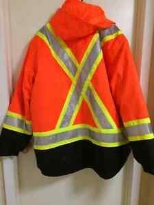 5-in1 Work King orange safety jacket Kitchener / Waterloo Kitchener Area image 2