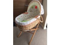 Moses basket with fixed stand (mothercare)