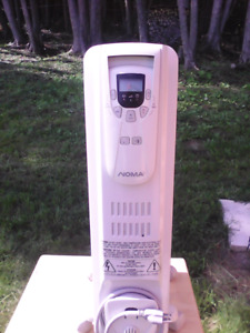 Noma oil field room heater and oscillating heater with remote
