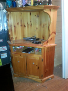Solid wood TV CABNET