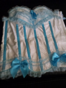 Corset         Baby Blue and  White