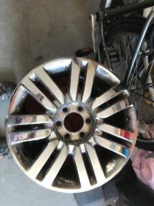 """2 wheels 20"""" chrome fit Lincoln Navigator or Mark LT"""