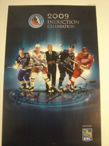 2009 Hockey-Hall-of-Fame Induction Ceremony Autographed Poster