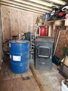Réservoir et Fournaise à l'huile