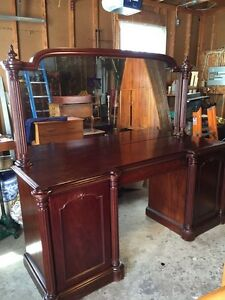 Beautiful antique solid mahogany sideboard