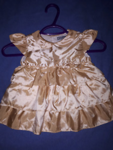 Gold Holiday Christmas Petit Confection Dress Size 2T EUC