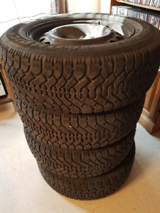 Goodyear 4 Snow tires with rims for Dodge