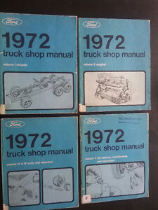 1972 Ford Pickup Factory Shop Manuals