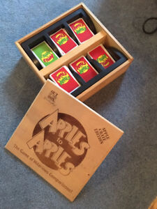 Vintage Apples to Apples Game in original wooden crate