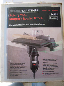 Rotary Tool Shaper/Router Table