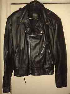 Authentic Leather Motorcycle jacket made by Brimaco