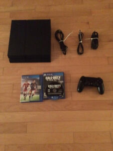 PS4 With games, controller and cables