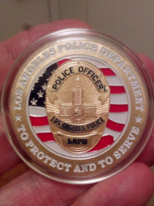 Large 40mm Los Angeles Police Department Coin.