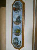 Steam Train Plates in Display Frame