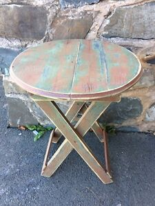 Antique Folding Side/Coffee Table