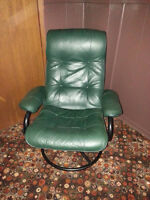 Green, Leather Chair