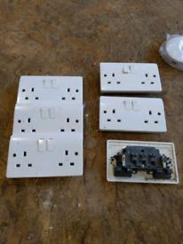 2 gang double plug sockets six