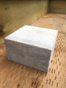 """Clinton white pavers"" Rough-marble paving stones for sale"