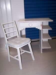 Vintage Desk and Chair with SIDE BOOK SHELF
