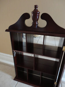 Solid wooden wall hanging curio display cabinet London Ontario image 4