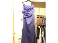 Purple bridesmaid dress size 10