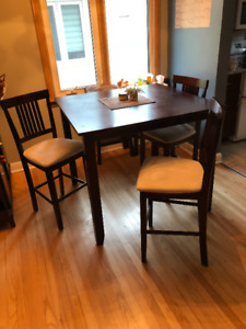 Bar Height Dining Table with 3 Chairs