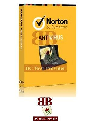 Norton Antivirus  Internet Or Standard Security 2017  1 User  1 Year  Pc  Mac