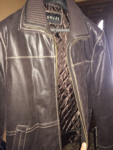 Men's Brown Leather Jacket from Freeds - Brand New with tags