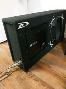"12"" sub and amp in box"
