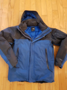 The North Face Blue and Dark Grey 3 in 1 Jacket