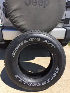 5 New Bridgestone Dueler A/T P255/70R18 Jeep Wrangler Tires