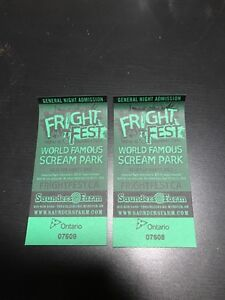 Fright Fest advanced ticket.