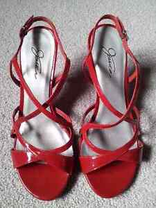Like New - Jessica Red Shoes - Size 7 London Ontario image 1