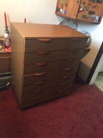 Large wood veneer drawers ideal to upcycle