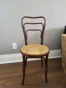 Bentwood Chair with cane seating