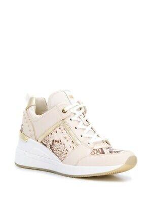 Michael Kors Georgie Trainer Sneakers Snakeskin Print Sz 8 M