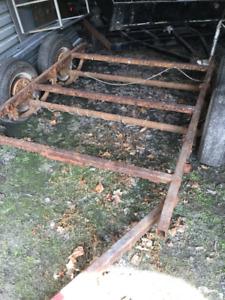 Frame de trailer avec 2 essieux de frein électrique