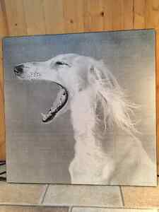 Black and white painting of a dog Kitchener / Waterloo Kitchener Area image 2