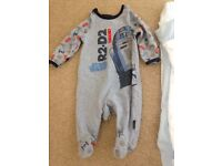 Baby boys sleep suits ( Sainsbury's Tu) aged up to 1 month (9lbs)